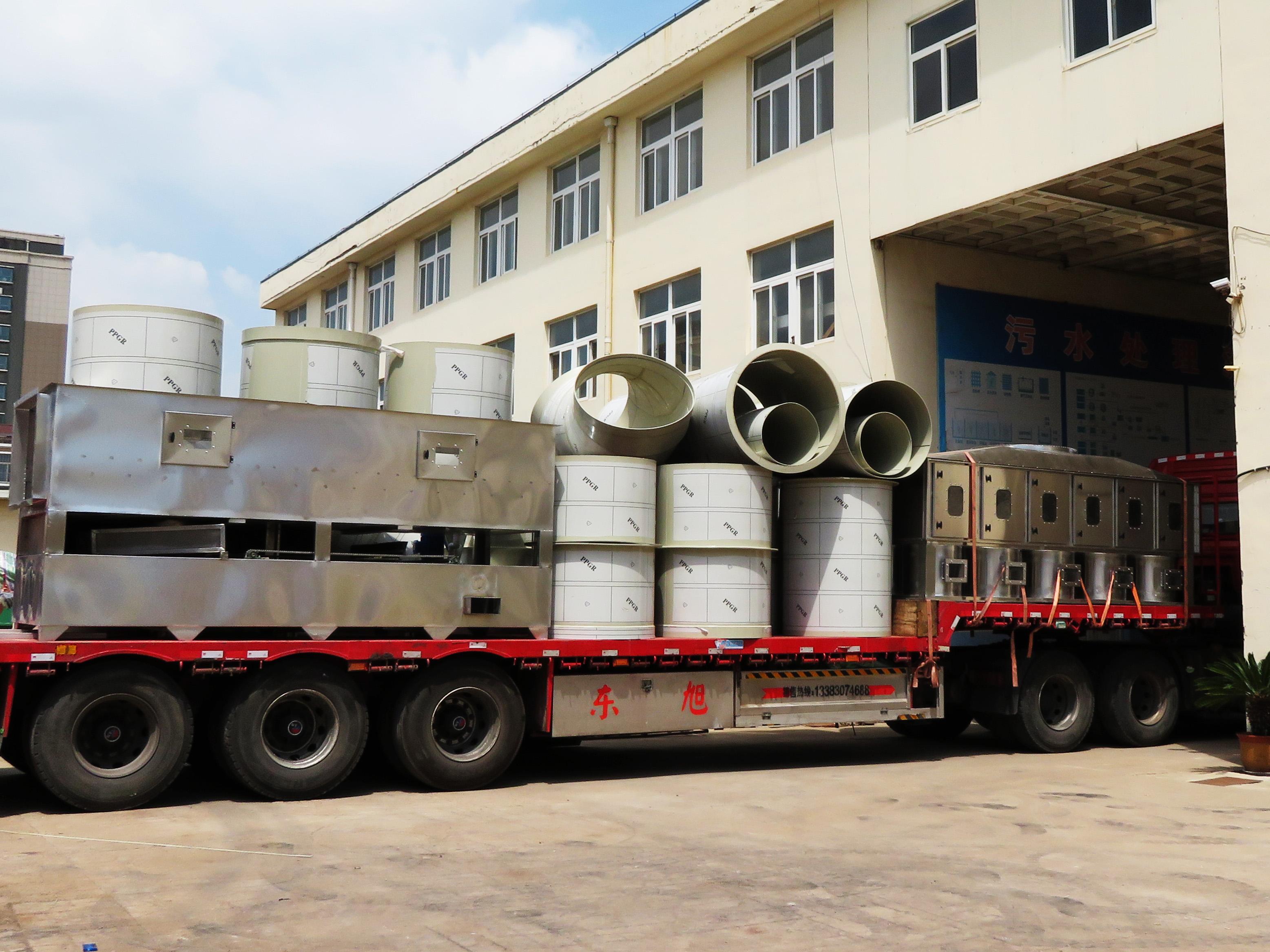 化工废气催化燃烧设备的三个工艺流程
