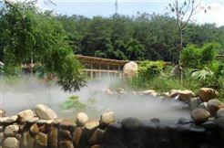 休息庭院景觀造霧