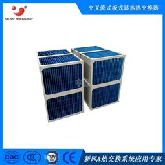 亲水铝箔换热机组热交换器芯体烘干余热回收器