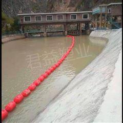 拦污浮排浮漂 柔性连接挂网水下拦截