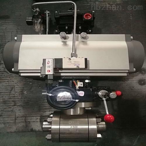 高温高压承插焊气动球阀