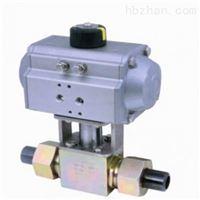 Q661F气动三片式活接对焊球阀