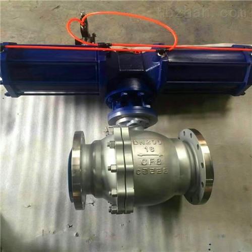气缸单作用自动复位球阀