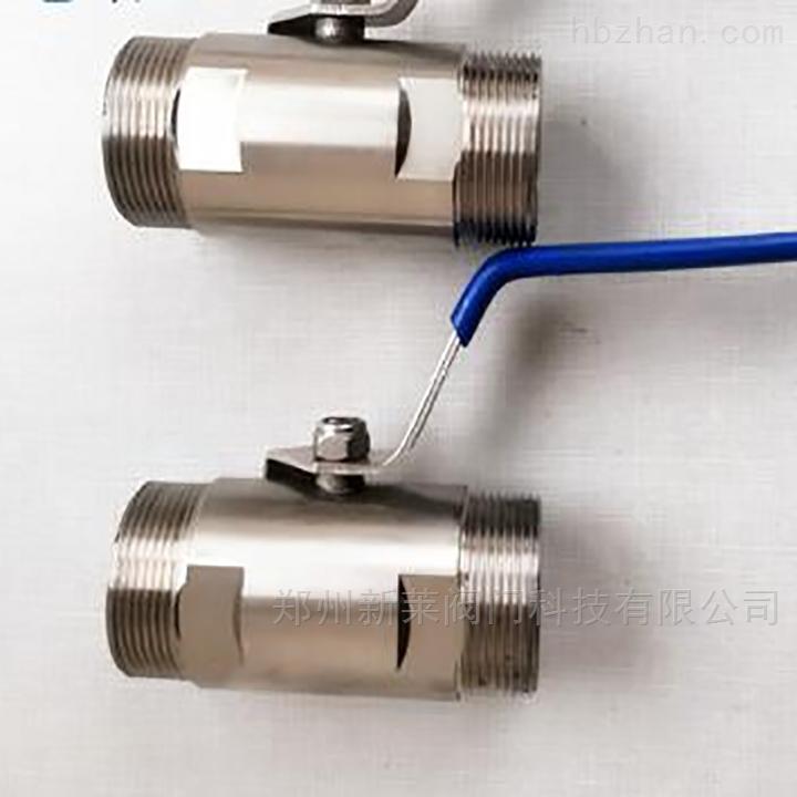 Q21F不锈钢广式双外丝球阀
