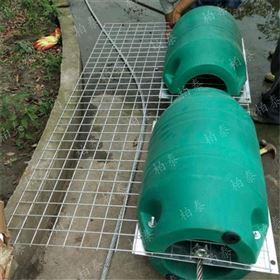 FT500*800拦截河床式低水头水电站污物塑料组合浮筒