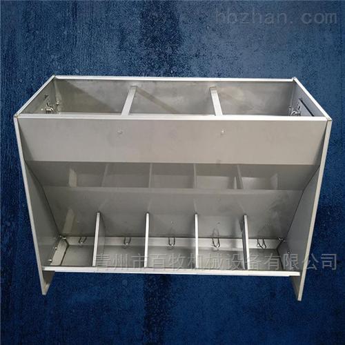 山东不锈钢料槽-双食槽生产厂家