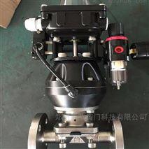 G641J-10P气动不锈钢法兰隔膜阀