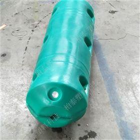 FT450*900柏泰水库新型固定定位圆柱挂网组合拦污浮筒