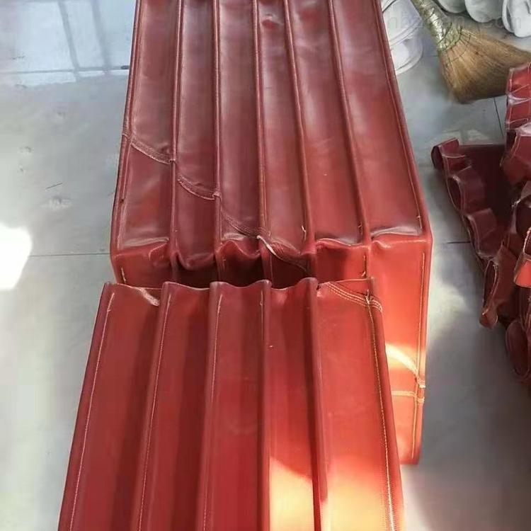涂布机硅胶布矩形通风口伸缩软连接