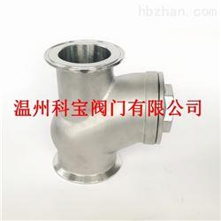 HQ81X-6P/R不锈钢排污Y型滚球快装单向阀