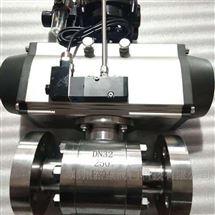 Q641Y-40C气动高压锻钢法兰球阀