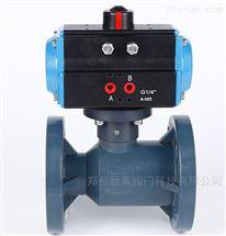 Q641F-10S气动FRPP耐酸碱塑料球阀