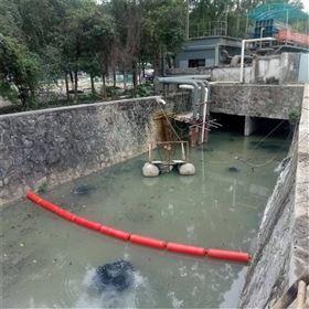 FT中间钢丝绳串联连接聚乙烯拦污浮筒