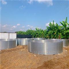 地面镀锌板支架养殖水池