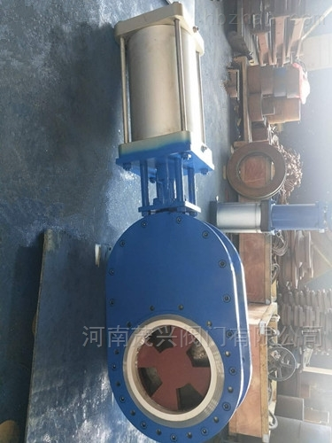 WZ674TC气动陶瓷双闸阀开孔型