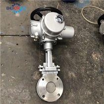 PZ973H-10P DN100不锈钢对夹式电动刀闸阀