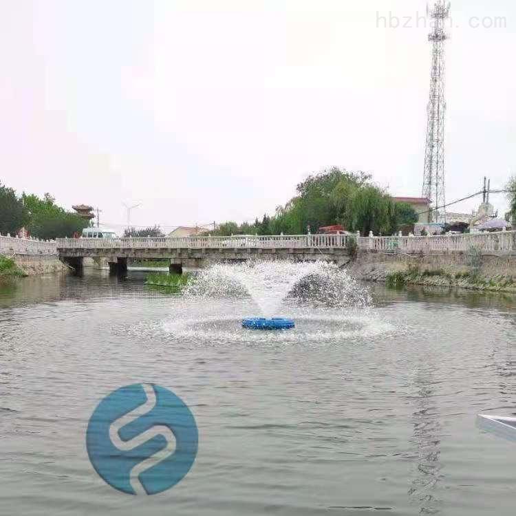 水柱式喷洒曝气机效果