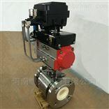 Q641TC气动不锈钢陶瓷球阀