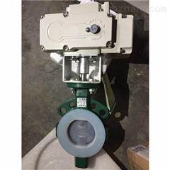 D971F46-16C DN50衬氟耐腐蚀电动对夹蝶阀