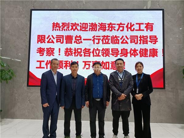 萍乡科隆公司迎来河北渤海化工考察——喷砂填料