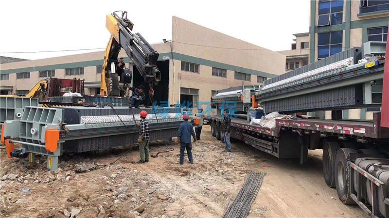 绿烨隔膜压滤机为某煤矿厂客户进行矿渣处理
