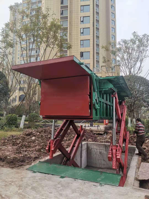 达州江湾城7立方水平压缩垃圾站已经正常投入使用