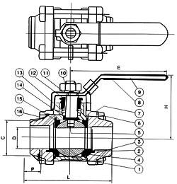 二片式承插焊球阀,三片式承插焊球阀,厂家