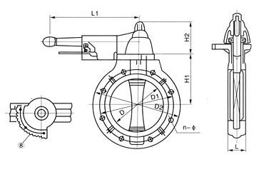 D71X-10U UPVC手柄式蝶阀