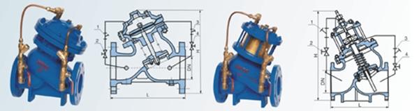 JD745X<strong>活塞式多功能水泵控制阀</strong>图