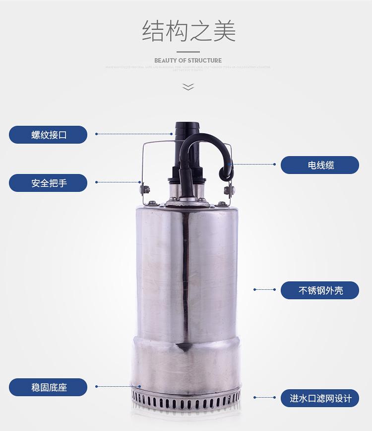 家用潜水泵结构图