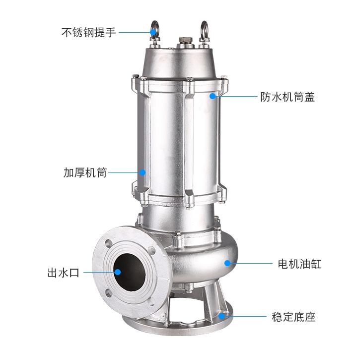 不銹鋼潛水泵結構圖