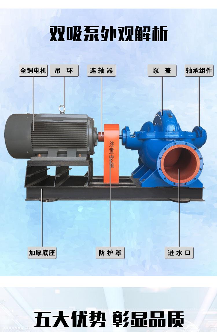 双吸泵结构图
