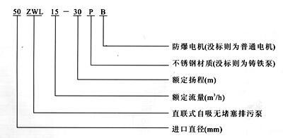 ZWL自吸排污泵型号意义