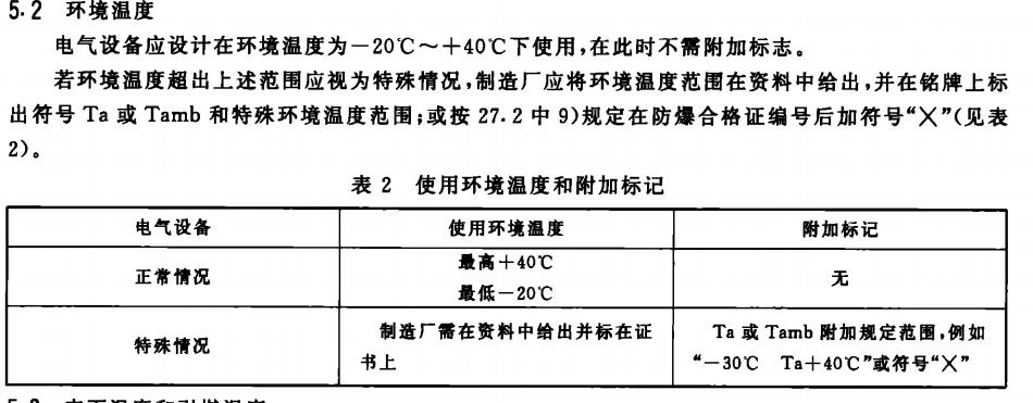 防爆电气设备的类别,级别与温度组别
