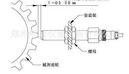 三线制转速传感器结构图