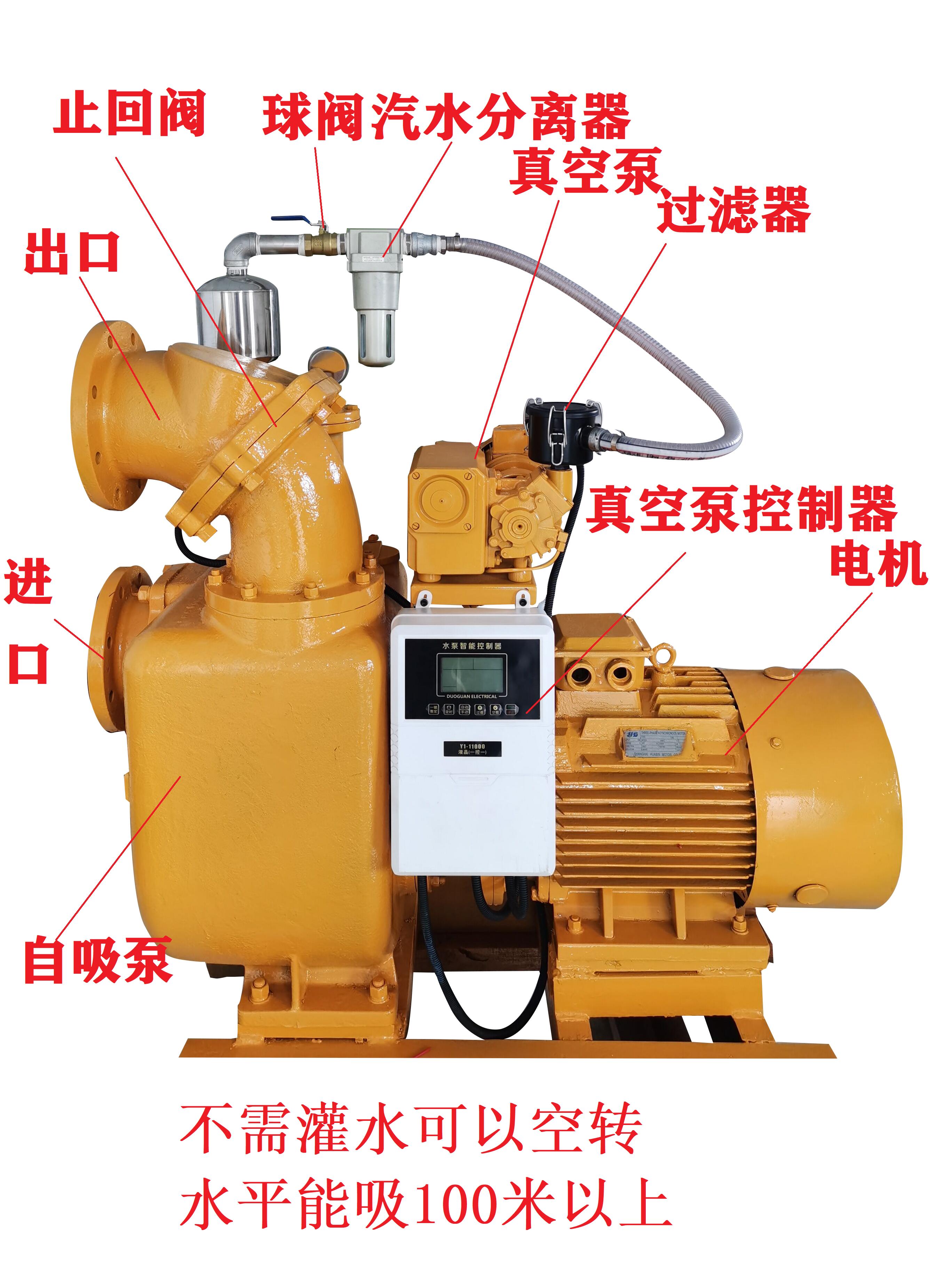 真空輔助自吸泵結構圖