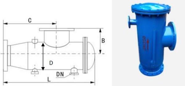 角式反冲洗过滤器图