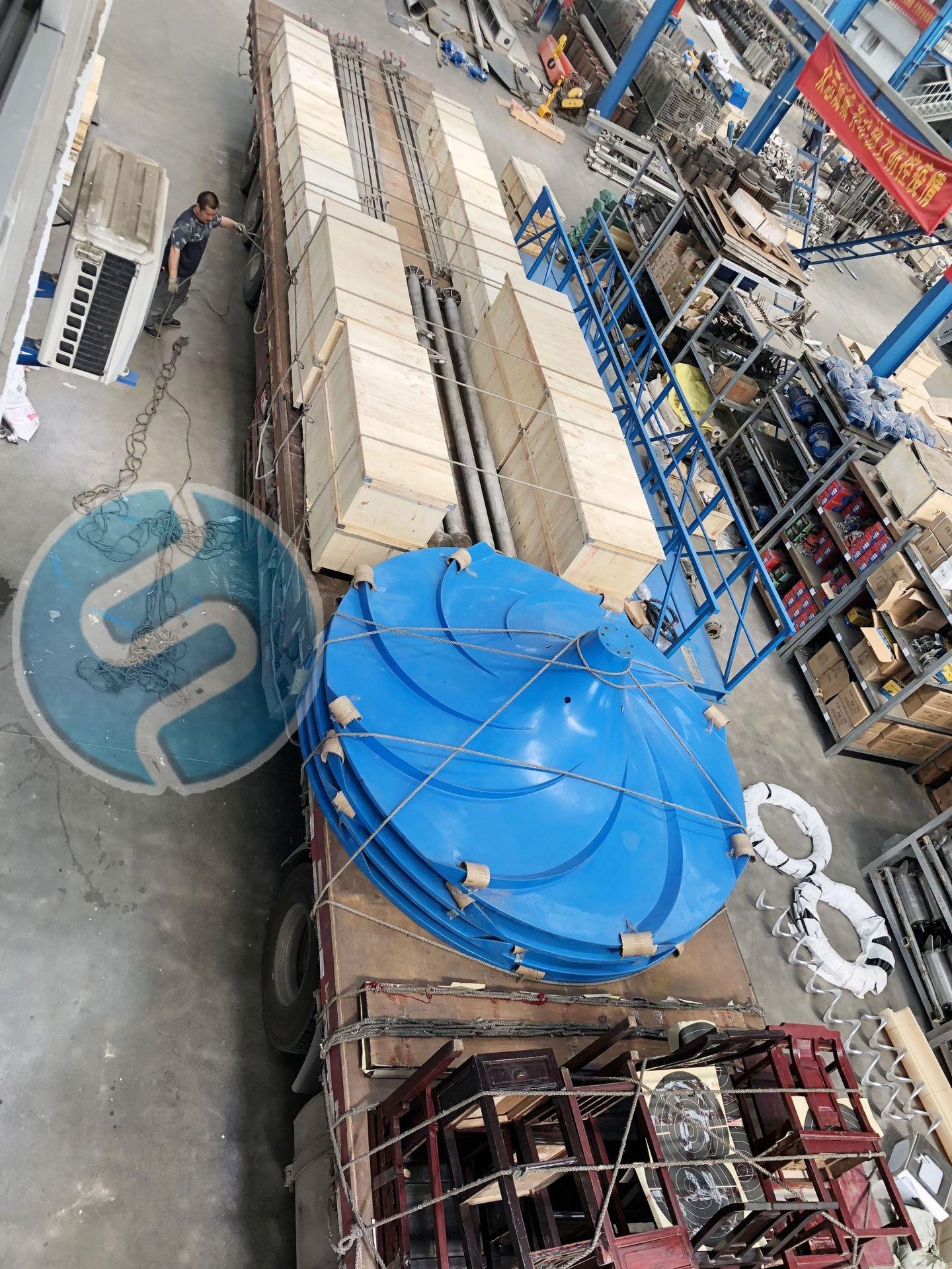 南京蘭江潛水雙曲面攪拌機河北項目成功簽訂
