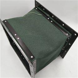 绿色帆布机械设备除尘通风伸缩软管定制
