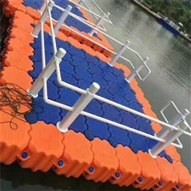 FT500*500*400水上浮桥浮动码头游艇停放休闲垂钓平台浮筒
